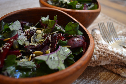 Beet & Kale Salad with Three Farmers Camelina Dill