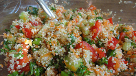 The Best Gluten-Free Quinoa Salad with Apple Cider Vinegar Dressing