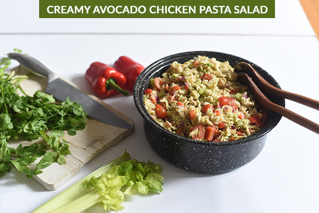 Creamy Avocado Chicken & Pasta Salad