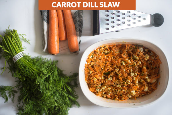 Dilled Carrot Slaw with Feta Cheese