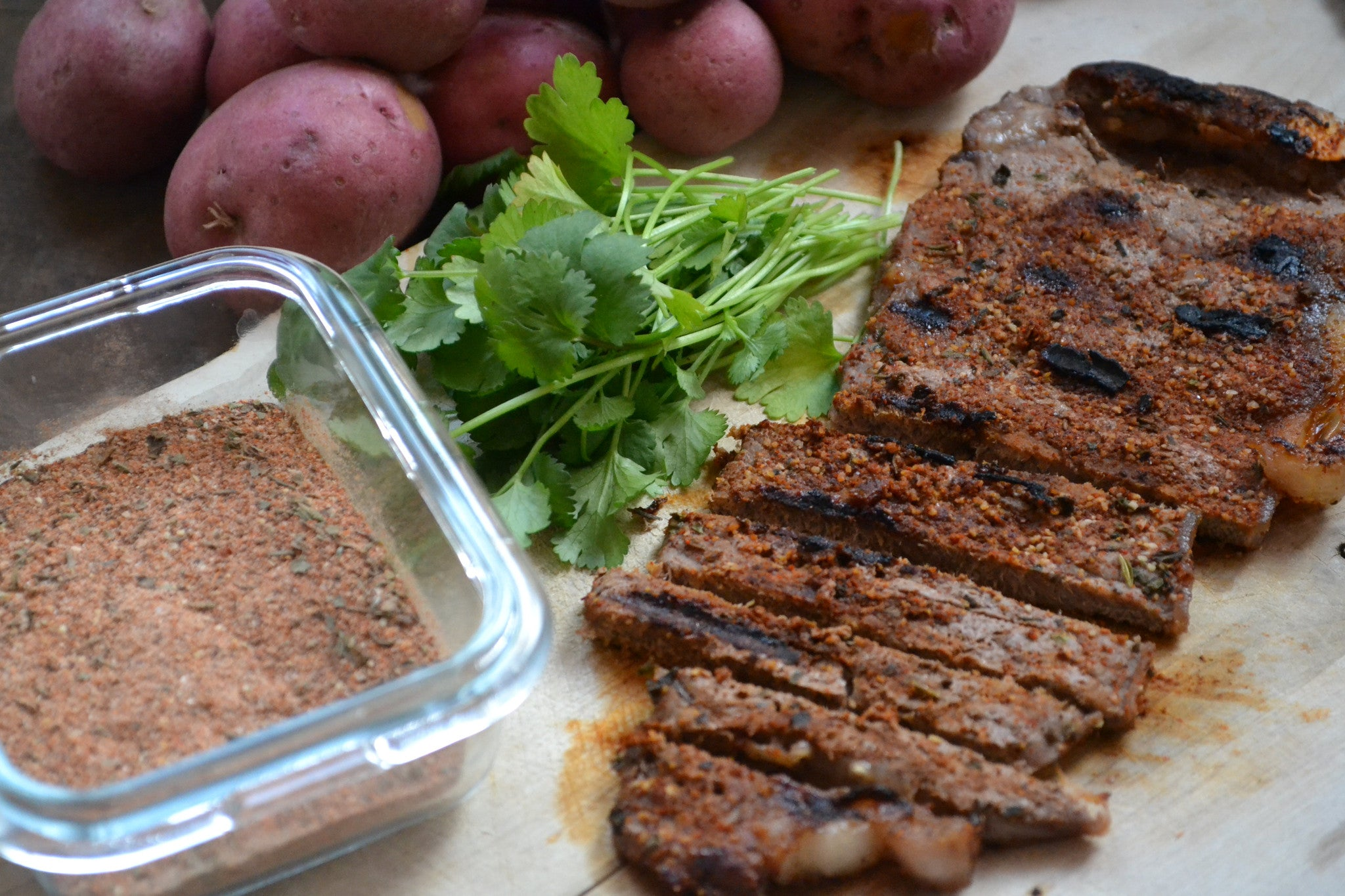 Savoury Cajun Crusted Grilled Steak