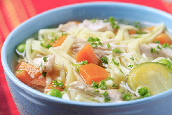 Classic Chicken Noodle Soup with Apple Cider Vinegar
