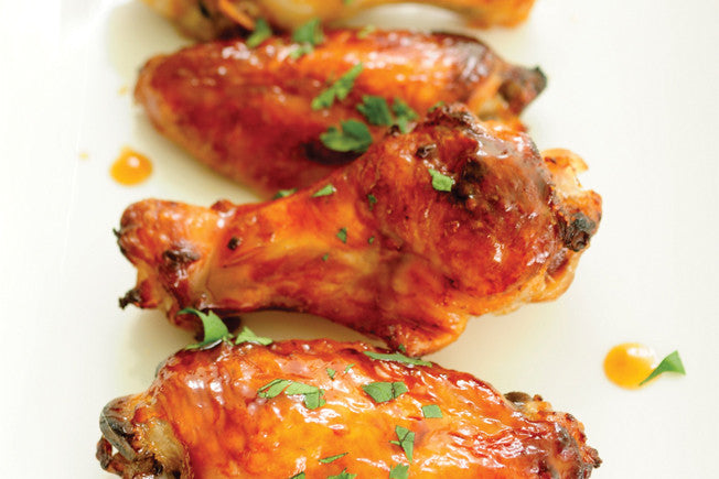 Honey-Lime Chicken Wings with Cilantro & Garlic