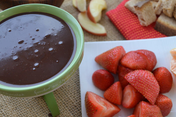 Vegan Chocolate Fondue with Coconut Milk