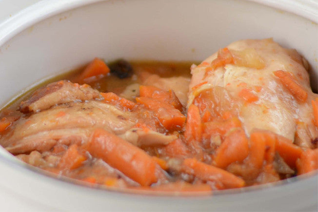 French-Inspired Crockpot Coq Au Vin
