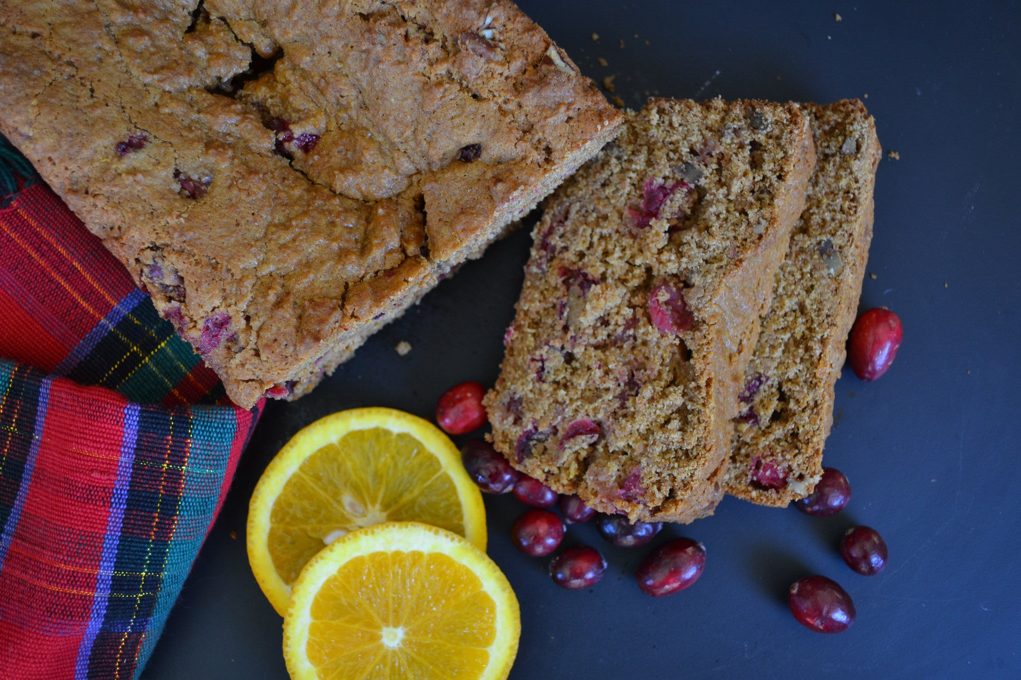 Cranberry Orange Nut Loaf with Pecans