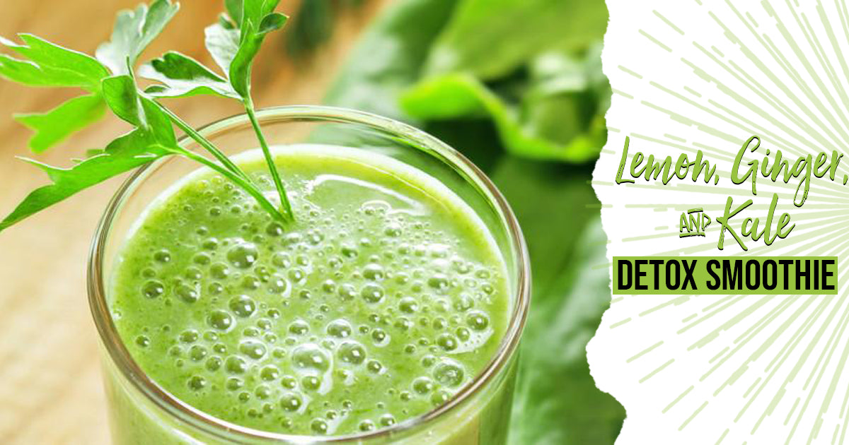 Lemon, Ginger & Kale Detox Smoothie