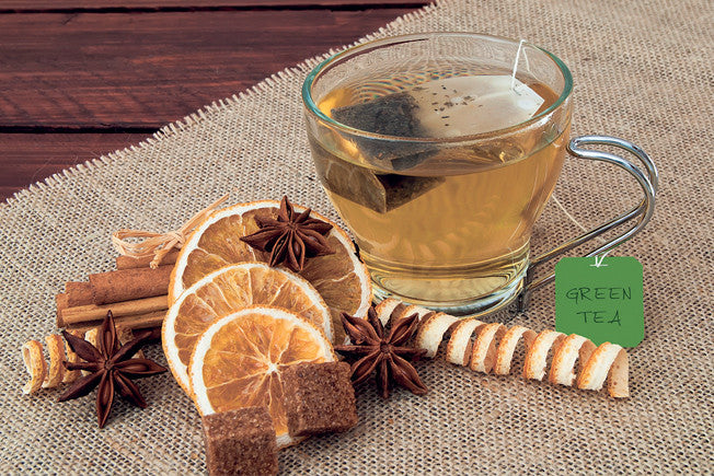 Fall Spiced Green Tea with Cinnamon & Cloves