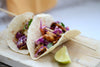 Talapia Fish Tacos with Red Cabbage & Carrot Slaw