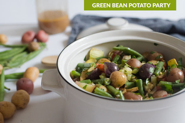 Green Bean Potato Party Salad with Dijon Dressing