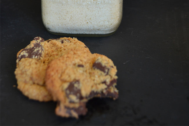 Grain-Free Almond Flour Chocolate Chip Cookies with Coconut