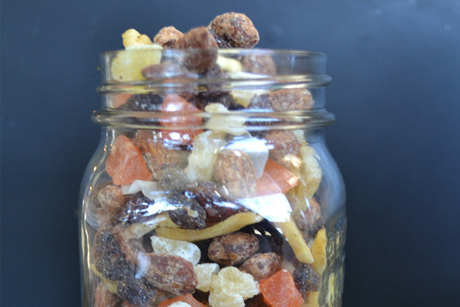 Hawaiian Holiday Trail Mix with Maple Syrup & Cinnamon