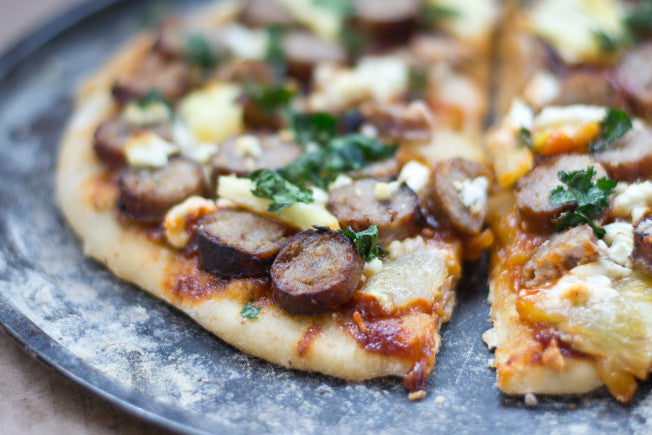 BBQ Pineapple Pizza with Honey Garlic Sausage
