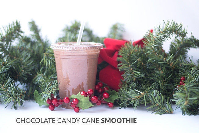 Healthy & Delicious Chocolate Candy Cane Smoothie