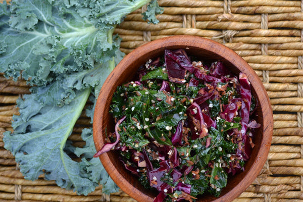 Kale & Cabbage Chop Salad with Dijon Dressing
