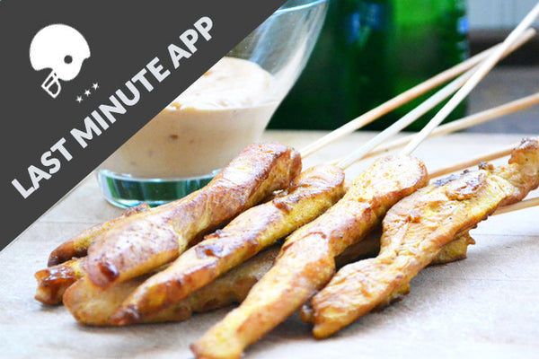 Gluten-Free Chicken Satay Skewers with Peanut Sauce