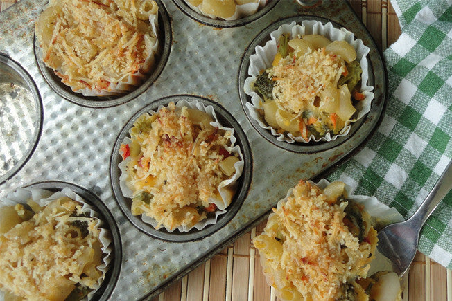 Gluten Free Three-Cheese Mac'n Cheese Cups