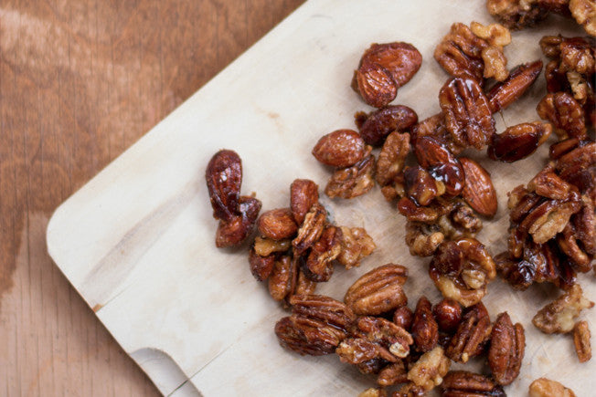 Candied Maple Mixed Nuts with Cinnamon