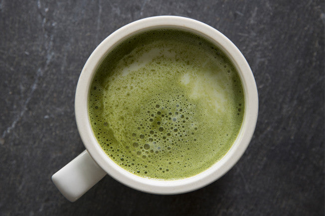 Matcha Green Tea Latte with Coconut Milk & Honey