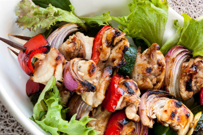 Mediterranean Shish-Kabobs with Lemon Rosemary Marinade