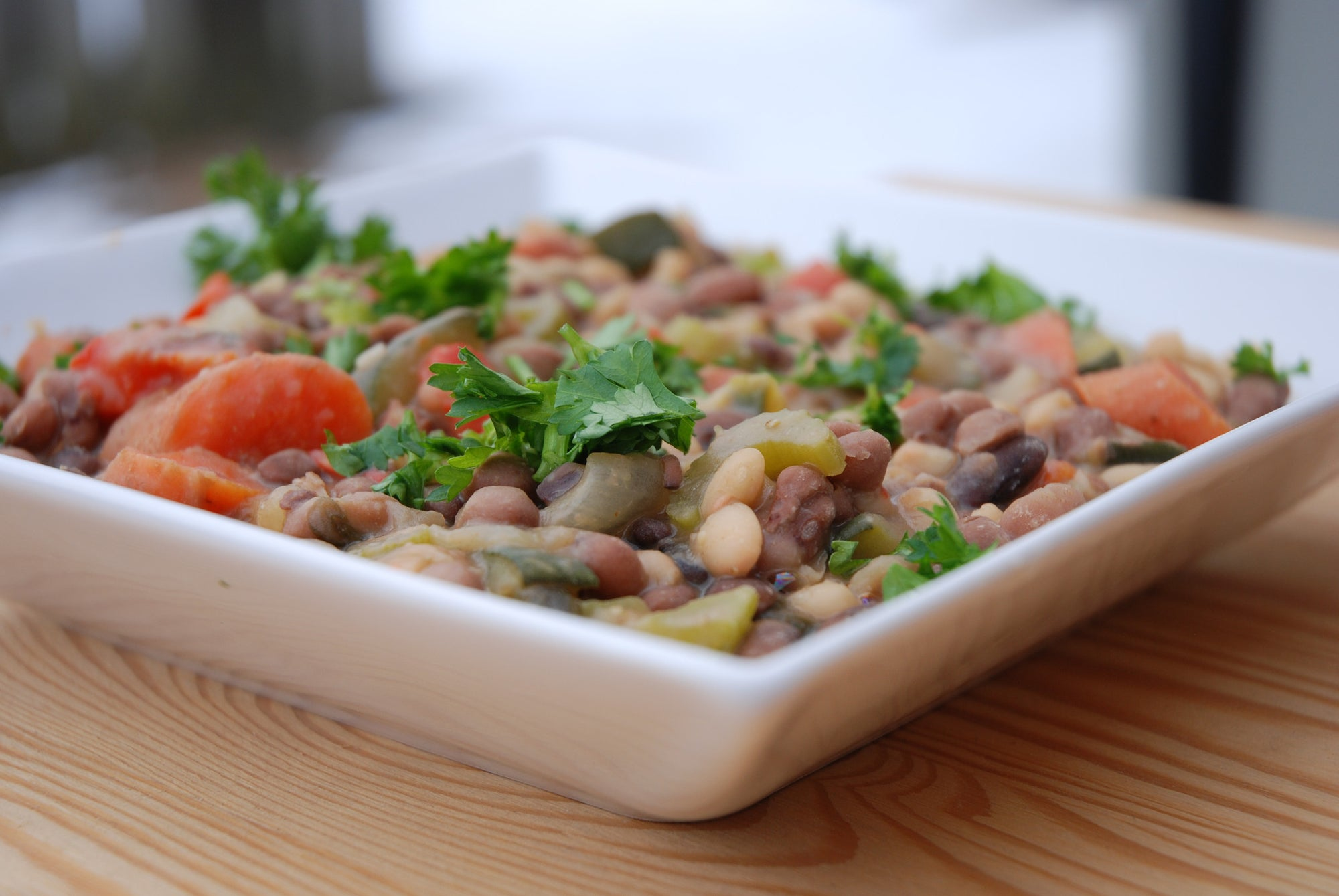 Vegan & Gluten-Free Three-Bean and Veggie Stew
