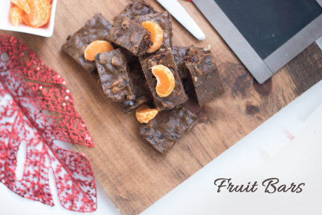 Christmas Fruit Bars with Nutmeg & Ginger