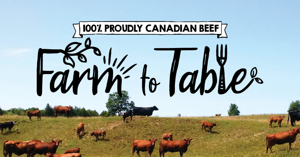 Farm to Table with 100% Canadian Beef