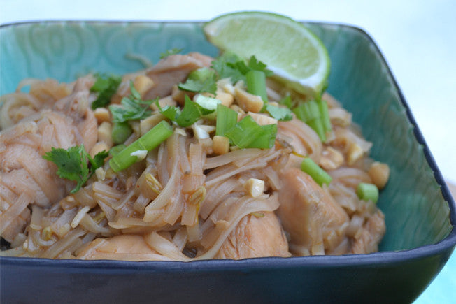 Gluten-Free Pad Thai with Curry-Honey Sauce