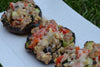 Sausage-Stuffed Portobello Grillers with Parmesan