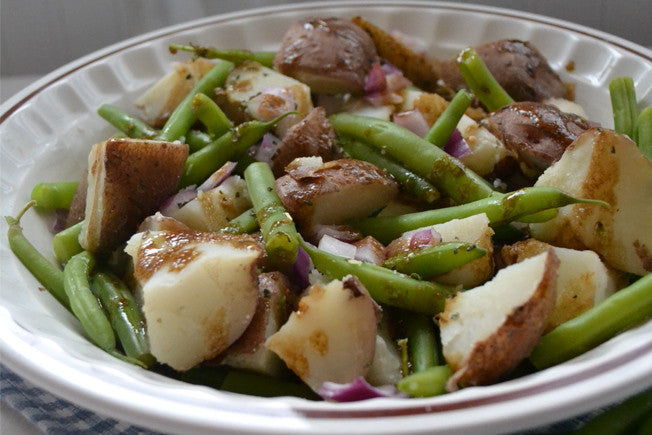 Potato and Green Bean Salad with Balsamic Mustard Dressing
