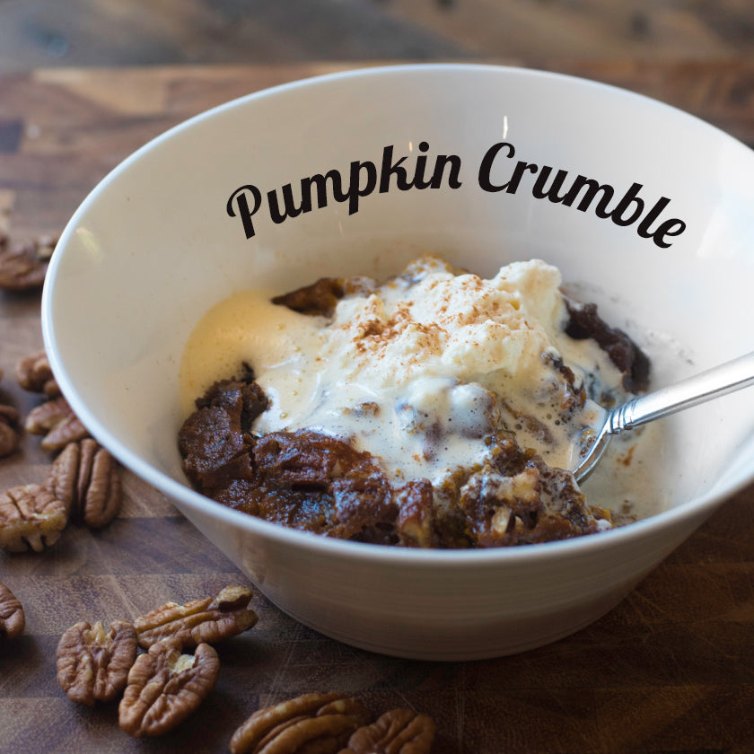 Pumpkin Crumble with Natural Whipping Cream