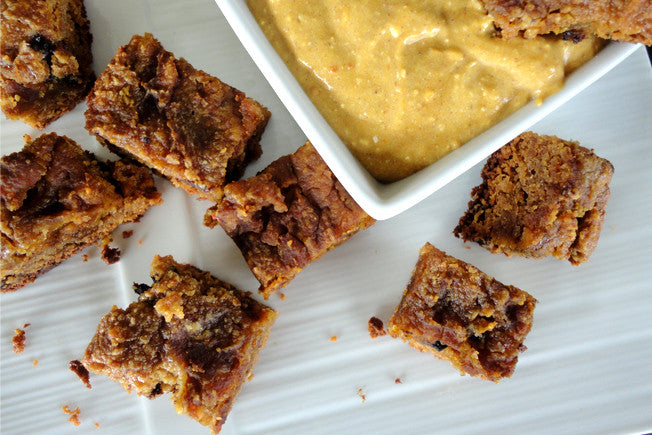 Crockpot Pumpkin Blondies with Chocolate Chips