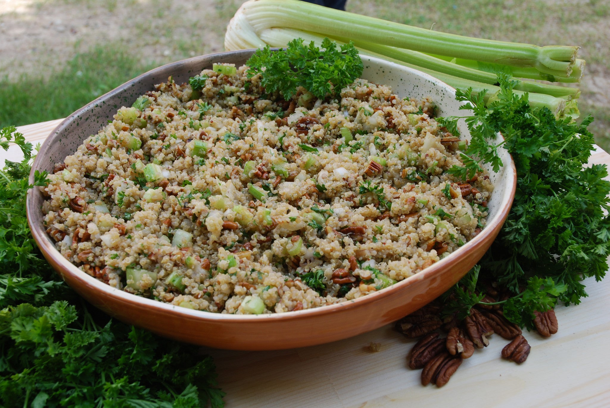 Gluten Free Quinoa Stuffing with Thyme & Sage
