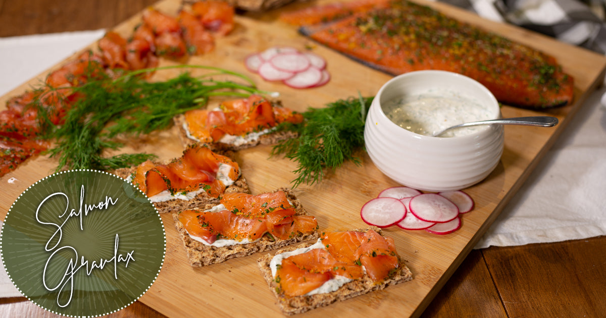 Salmon Gravlax with Dill Cream