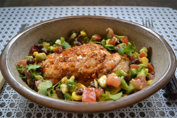Santa Fe Cajun Chicken with Avocado Relish