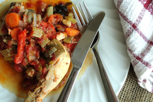Gluten Free Slow Cooker Chicken Cacciatore