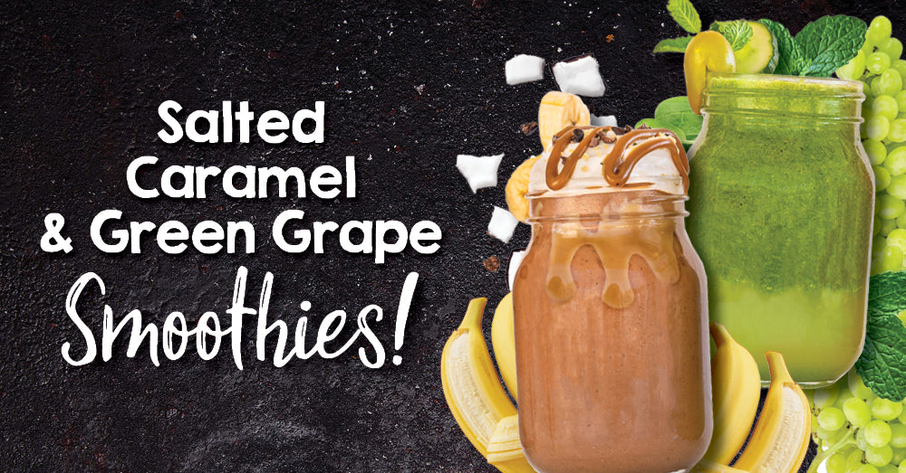 Salted Caramel & Green Grape Escape Smoothies