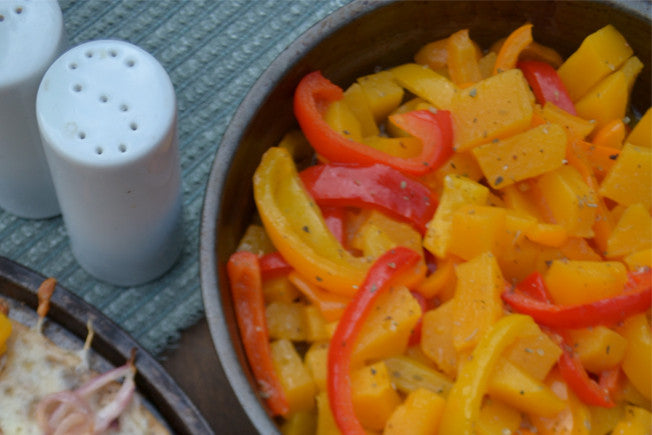 Quick & Easy Squash and Peppers Saute