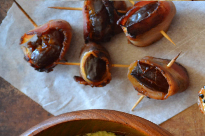 Bacon & Goat Cheese-Stuffed Grilled Dates