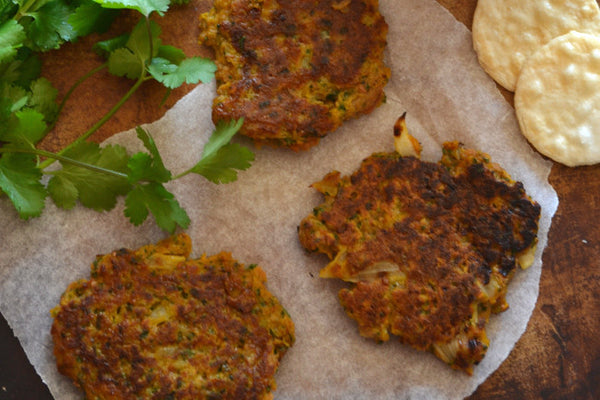 Sweet Potato Fritters with Cilantro