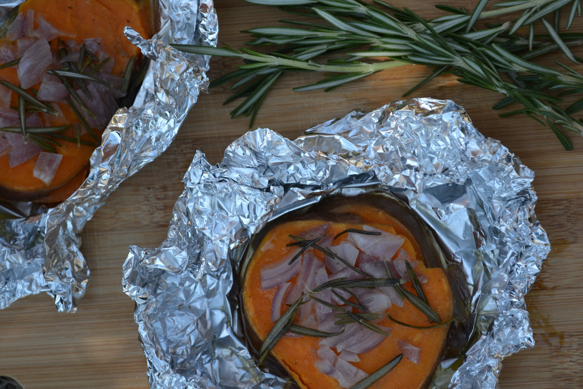 Sweet Potato, Onion & Rosemary Packets