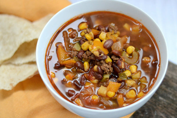 Colourful Gluten Free Taco Soup