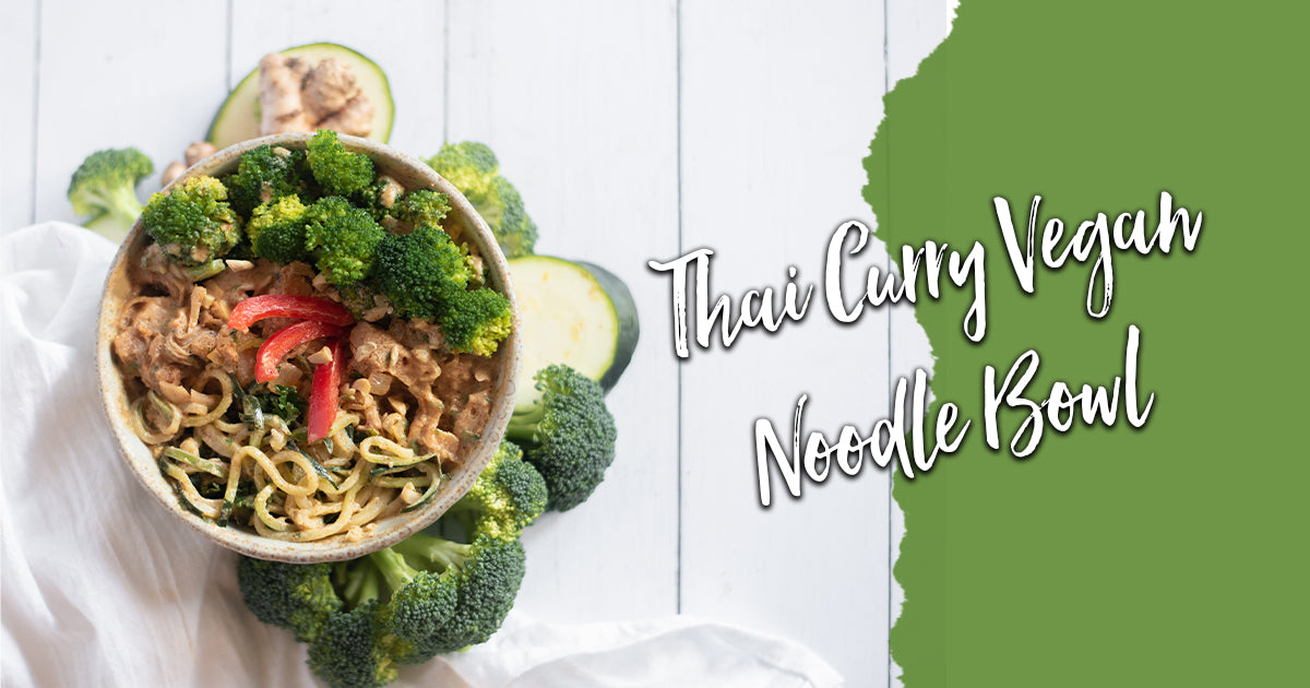 Thai Curry Vegan Noodle Bowl