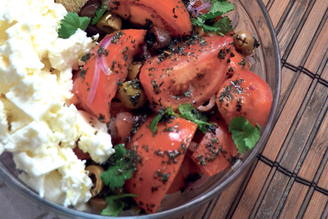 Tomato & Feta Salad with Olive Oil Dressing
