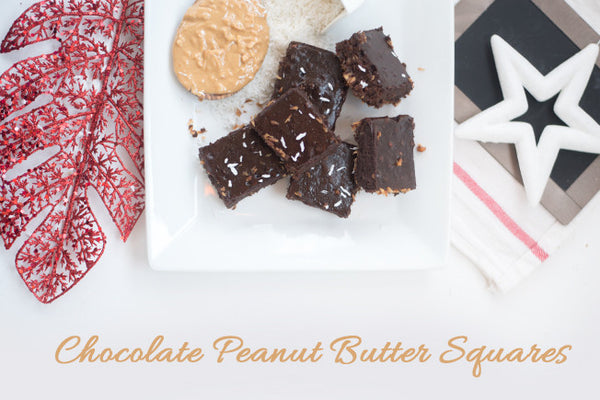 Triple Coconut Chocolate Peanut Butter Squares