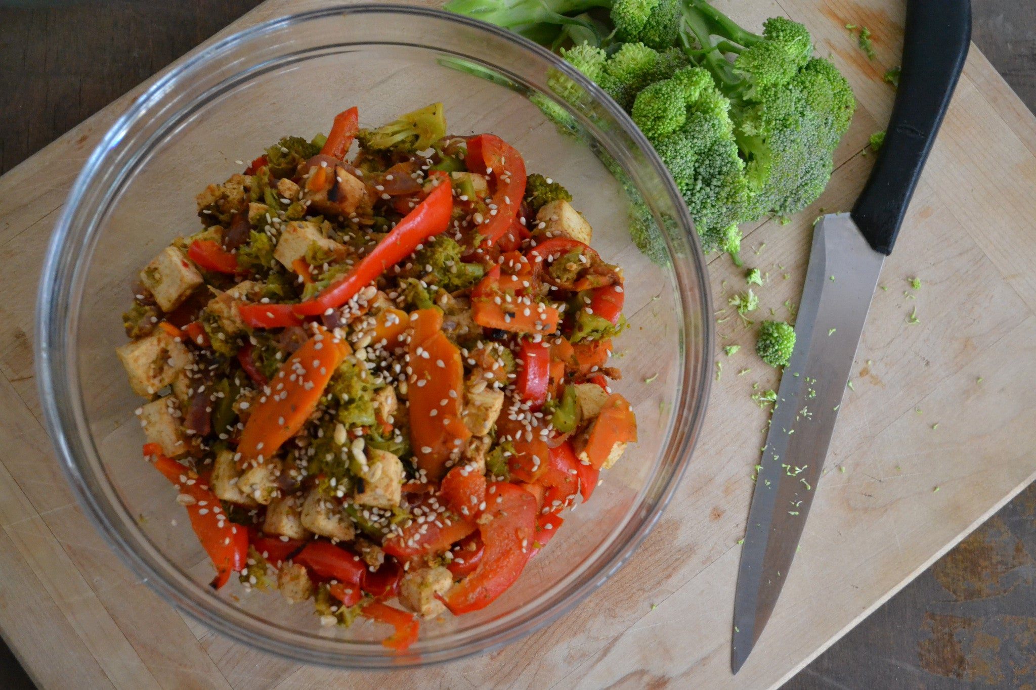 Vegetarian Stir Fry with Thai Peanut Sauce