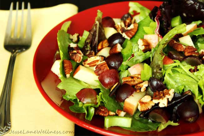 Out-for-Lunch Waldorf Salad with Apples & Pecans