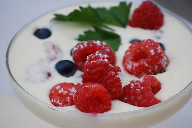 White Chocolate and Raspberry Mousse