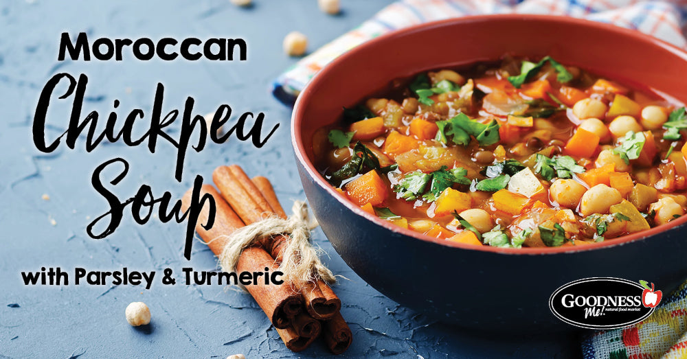 Moroccan Chickpea Soup with Parsley & Turmeric