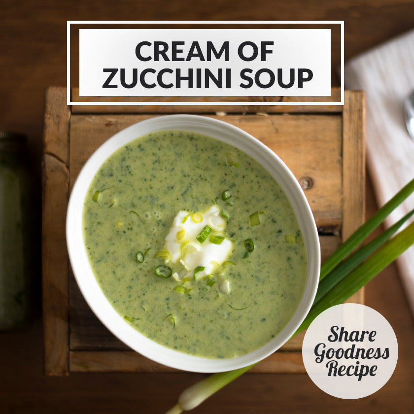Cream of Zucchini Soup (Gluten-Free and Vegetarian!)